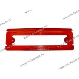 Рамка катафот заднего номерного знака 2101-06 красная-430627
