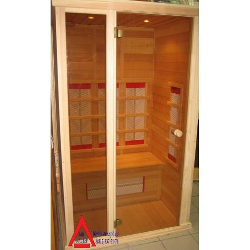 Инфракрасная сауна 2 - местная со стеклянной дверью и одной стеклянной вставкой (без цветотерапии)-6853976