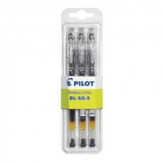 Ручка гелевая PILOT BL-SG5 однораз.черная 0,3мм 3шт/бл Япон