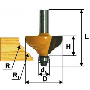 Энкор Фреза кромочная калевочная ф28.6х13, r4, хв. 8мм