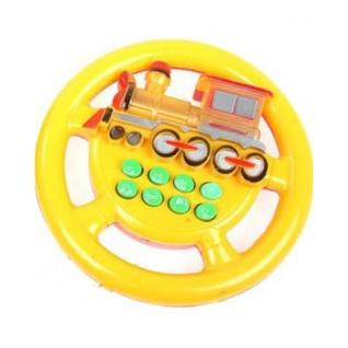 """Электронный игровой руль """"Я тоже рулю"""" - Паровозик (8 звуковых кнопок), желтый Play Smart-37716588"""