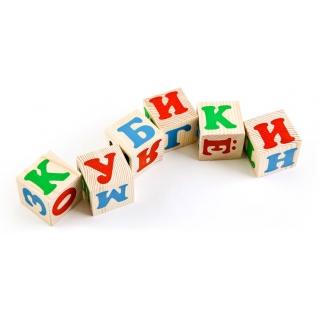 """Набор деревянных кубиков """"Алфавит"""", 12 шт. Томик-37746541"""
