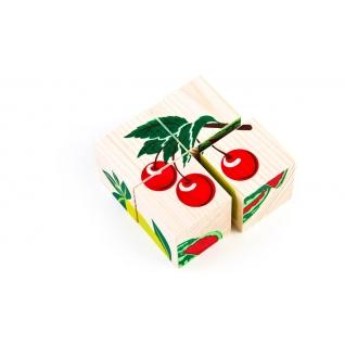 """Набор кубиков """"Сложи рисунок"""" - Фрукты-ягоды Томик-37746500"""