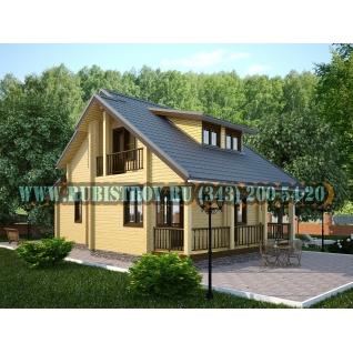 """Проект """"СЫСЕРТЬ"""" из профилированного бруса 145 х 190, размер 7,5 х 11,5 м., площадь дома 115,0 кв.м."""