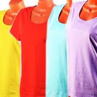 Футболка женская однотонная, цвет бирюзовый, размер 52-37656183