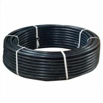Труба ПНД для питьевой воды 20 х 2мм, PN16, SDR11, черная с синей полосой (100м в бухте)