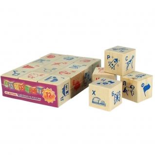 """Деревянные кубики с картинками """"Алфавит"""", 12 шт. Пелси-37743404"""