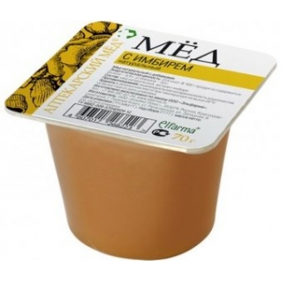 Мед с Имбирём натуральный 70 г Эльфарма