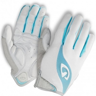 Перчатки TESSA, жен. длинные white/milky blue, S, gel