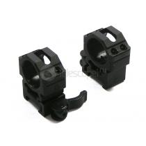 Кольца быстросъемные Leapers на weaver, 25.4 мм, средние (RQ2W1154)