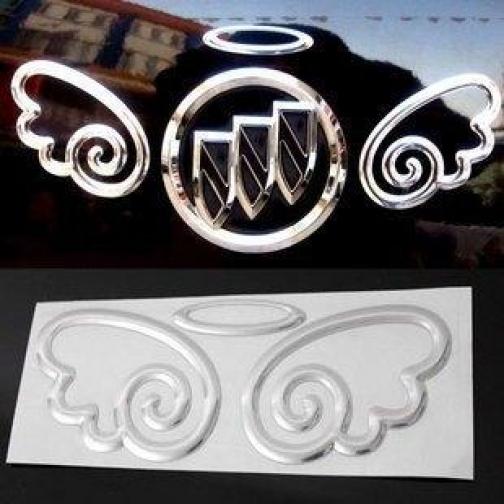3D наклейка на эмблему авто Ангел-6722464