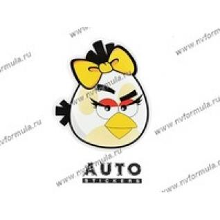 Наклейка Angry Birds белая 14x16-431426