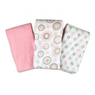 Пеленки Summer Infant Набор пеленок 3 шт. Floral Medallion (розовая/белые с орнаментом)