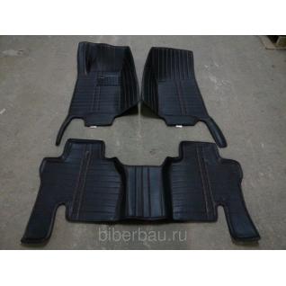 Кожаные автоковрики SsangYong Kyron чёрный 2005-2015-907149
