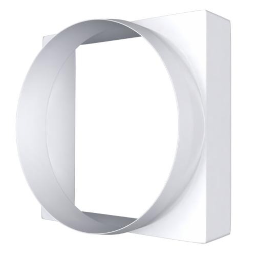 Соединитель квадрата ERA 09КВ 90х90 с круглым воздуховодом D100 (48шт/уп)-6769966