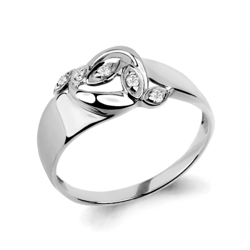 Серебряное кольцо с фианитом АКВАМАРИН 64849А 64849А АКВАМАРИН-8918321