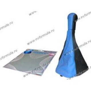 Ручка КПП 2110-12 Сфера кожзам+чехол синяя-431225