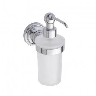 Дозатор жидкого мыла настенный, хром-матовое стекло, Bemeta 144309012a