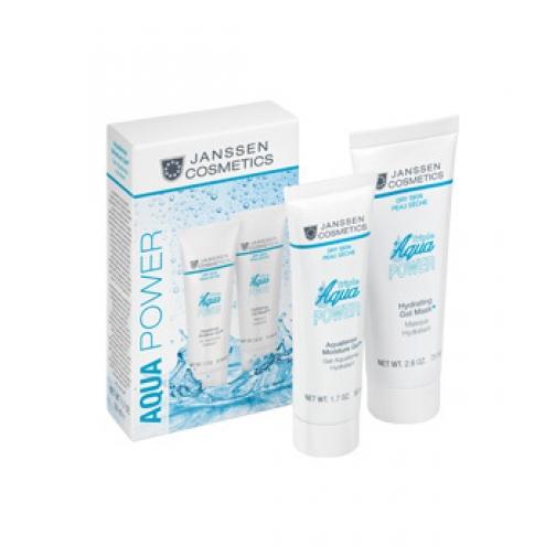 Janssen Hydrating Gel Mask + Aquatense Moisture Gel Aquaporine - Суперувлажняющая гель-маска + Суперувлажняющий гель-крем-4943127