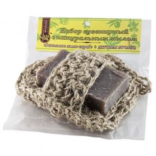 Мочалка с мылом Ванильное из джута-4957705