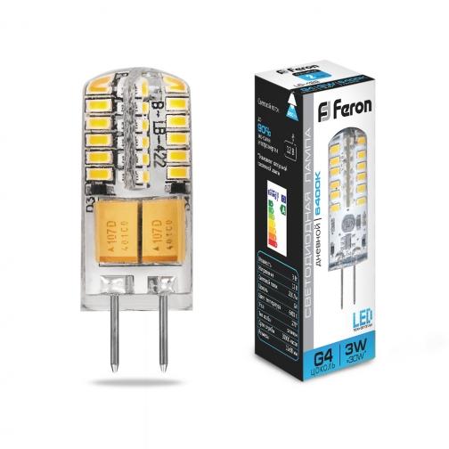 Светодиодная лампа Feron LB-422 (3W) 12V G4 6400K-8164394