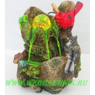 Декоративный фонтан | Настольный для дома | Птицы 30 см.-5255041
