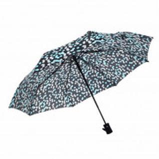 Зонт полуавтоматический Конфетти, R=49см, цвет чёрный/ментоловый 3530182