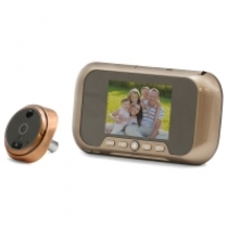 Видеоглазок в дверь с записью на SD карту, звонком и датчиком движения R01 Gold