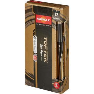Ручка гелевая Unimax Top Tek Gel stick Gold DC 0,5мм, черн, неавтом.