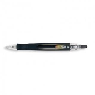Ручка гелевая PILOT BL-G6-5 авт.резин.манжет. черная 0,3мм Япония