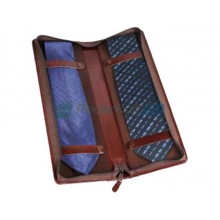 Чехол для галстуков William Lloyd из натуральной кожи, коричневый-5864253