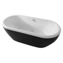 Ванна RIHO DUA 180x86 см, Черная панель (глянец)
