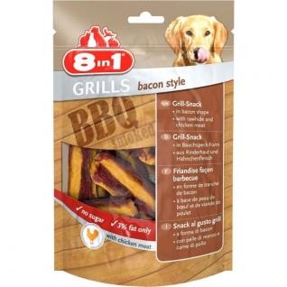 8in1 8in1 Grills Bacon гриллс снеки в виде бекона из говяжьей кожи и куриного мяса 80 г