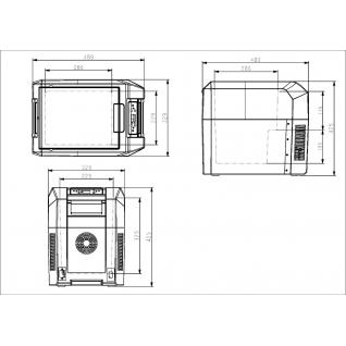 Автохолодильник компрессорный Colku DC-25T (24л, 12/24/220В)-37382113