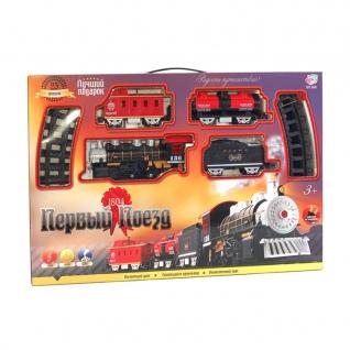 """Железная дорога """"Первый поезд"""" (свет, звук, дымит) Joy Toy-37712067"""