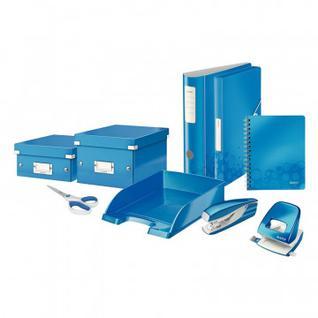 Степлер LEITZ NEXXT 55281036 (N10) до 10 л. синий металлик