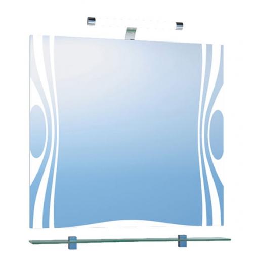 Зеркало Vigo Wave 80 с подсветкой и стеклянной полкой-6794502