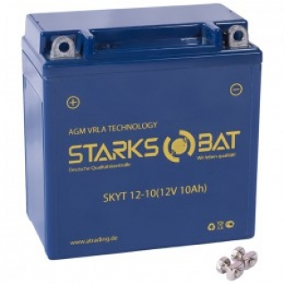 Аккумулятор для мототехники STARKSBAT STARKSBAT YT12-10 135А прямая полярность 10 А/ч (137x77x138)-5789170