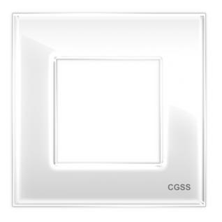 """Однопостовая рамка стеклянная белая """"эстетика"""" gl-p101-wc"""