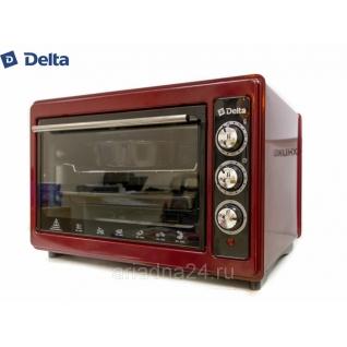 Духовка электрическая 37л DELTA D-023 с ТЭНом повышенной мощности (рестайлинг) бордовая Delta-6818016