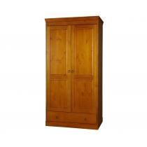 Шкаф 2-створчатый из массива сосны Дания Бейц медовый