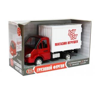 """Инерционная машинка """"Грузовой фургон"""" – Магазин игрушек (свет, звук), 1:27 Play Smart-37716764"""