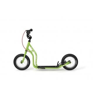 """Детский самокат Yedoo Mau New (зеленый) с ручными тормозами и колесами 12""""-37649470"""