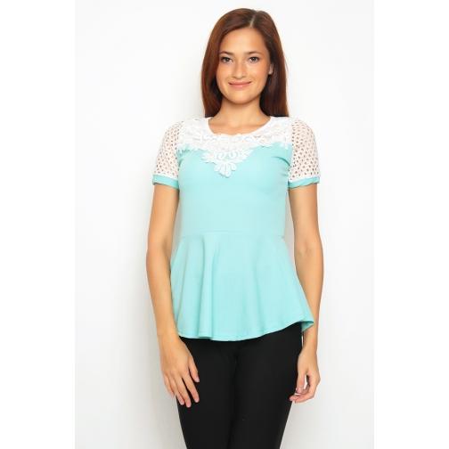 Блуза с баской 44 размер-6683357