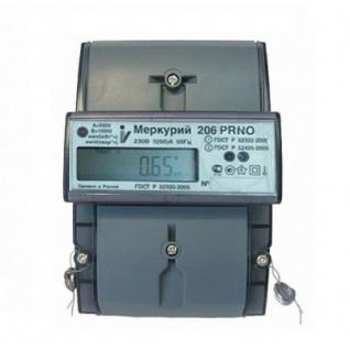 Электросчетчик Меркурий 206 PRNO 5(60)А/230В многотарифный, ЖКИ-5998283
