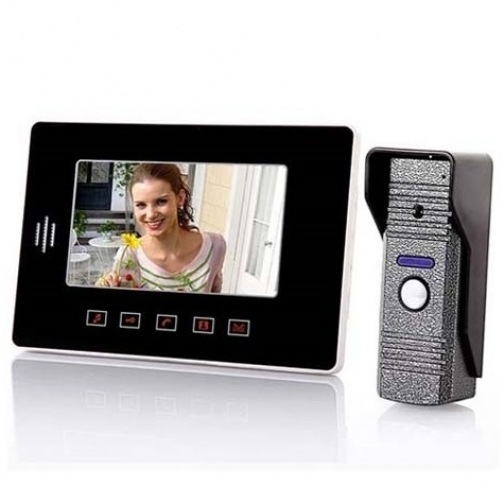 Комплект видеодомофона для квартиры, частного дома с вызывной панелью и записью на карту SD PST-VD7WT1-5006126