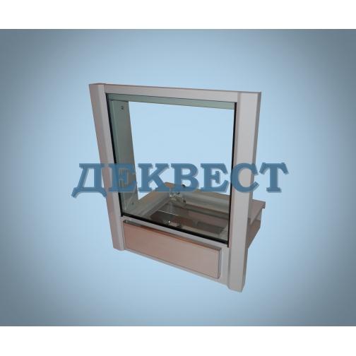 Передаточное кассовое окно ПУ-5В (выдвижной лоток).-494639
