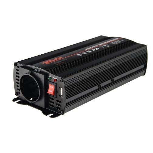 Преобразователь инверторный а/м WESTER MSW600 12-220В+USB; 600Вт ...-1210180