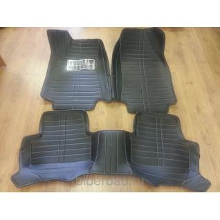 Кожаные автоковрики Renault Megane чёрный 2008-2014-907188
