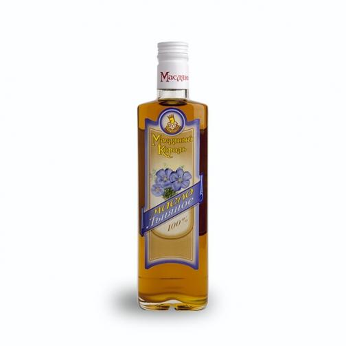 Масло льняное «Масляный король», 0.35 л, стекло-822562